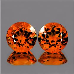 Natural Mandarin Orange Spessartite Garnet 6.50 MM- VVS