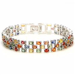 Natural Fancy Color Sapphire 120 Carats Bracelet