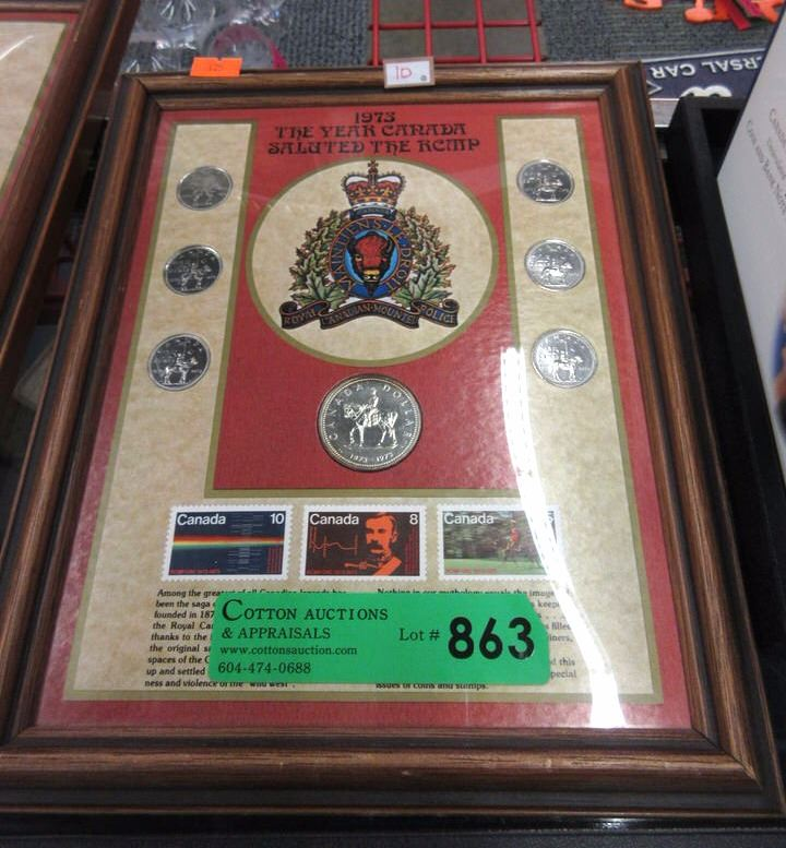 1973 Canadian RCMP Commemorative Coin Stamp Set