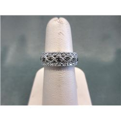 Black Diamond Studded Band Ring