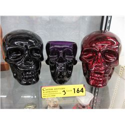 Artisan-made South American Colored Glass Skulls