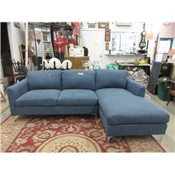 "New 90"" Fabric Upholstered Sofa with Chaise"