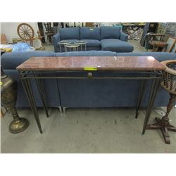 New Marble Top Hall Table Wrought Iron Base