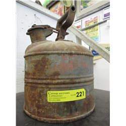 Vintage Justrite Safety Gas Can