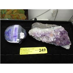 Geode Section & Amethyst Crystal Formation