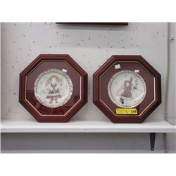 Pair of Framed Plates