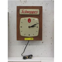 Vintage Illuminated Schweppes Wall Clock