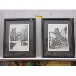 2 Framed Marc Prints of Quebec