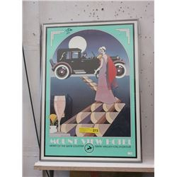 Mount View Hotel Framed Advertising Poster