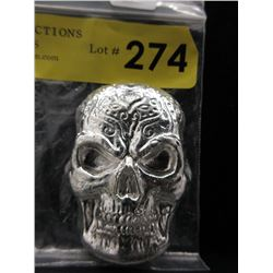 10 Ounce .999 Silver 3-D Sugar Skull Bar