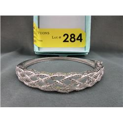 Quarter Carat Diamond Studded Bangle Bracelet