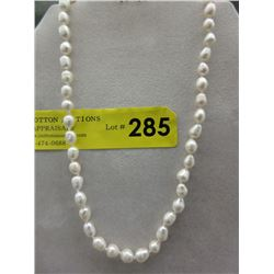 Freshwater Pearl Hand-Knotted Necklace
