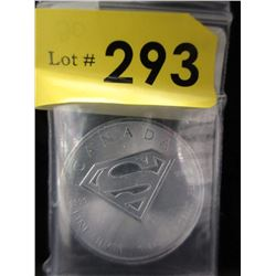 1 Oz. CDA Superman S-Shield .9999 Silver Coin