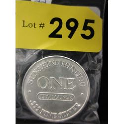 Old Style1 Ounce .999 Silver Round