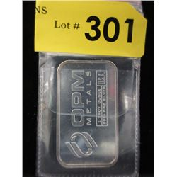 1 Oz. Ohio Precious Metals .999 Silver Bar