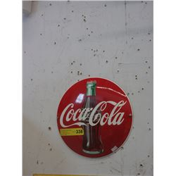 Porcelain Coca-Cola Button Sign