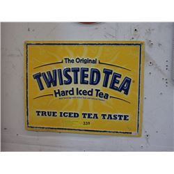 2011 Twisted Tea Tin Sign