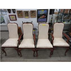 4 Upholstered Wood Dining Chairs