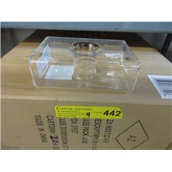 4 Cases of New Contemporary Glass Bud Vases