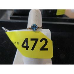 10 KT Gold and Blue Topaz Ring