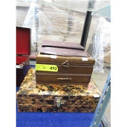 2 Jewelry Boxes and 1 Ladies Wallet - Preowned