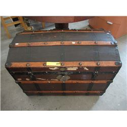 Vintage Hump Back Shipping Trunk