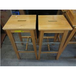 "Pair of 29"" Pine IKEA Stools"