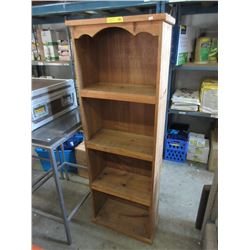 Pine 4-Tier Book Shelf