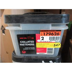 Pail of New Collated Fasteners