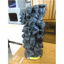 African Carved Ebony Statue