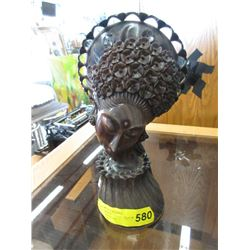 Carved Indonesian Wood Statuette