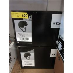 2 New Black TSG Helmets - L/XL