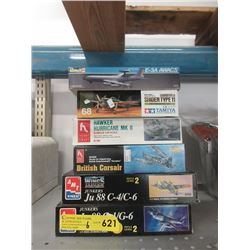 6 Airplane Model Kits