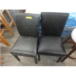 Pair of Leather Like Dining Chairs