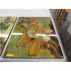 Large Lacquered Wall Art