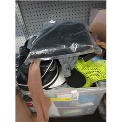 Tote of Clothing & Halloween Costume Pieces