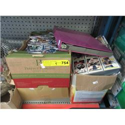 Binder & 3 Boxes of Assorted Hockey Trading Cards