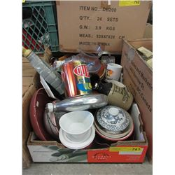 Box Lot of Household Goods & Collectibles