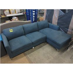 "New 90"" Upholstered Sofa with Chaise"