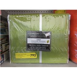 New Queen Size Eco-Chic Sheet Set - Green