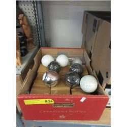 "Case of Assorted New Decorative 3"" Orbs"