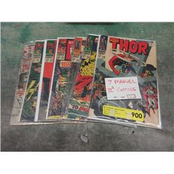 Seven Assorted 12¢ Comics - Bagged and Carded