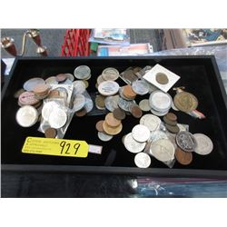 Collection of Coins, Tokens and Wooden Nickels