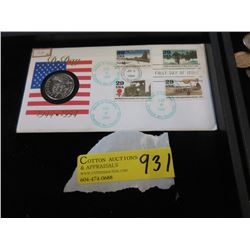 """Canadian """"D-Day"""" First Day Issue Stamp & Coin"""