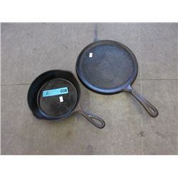 2 Cast Iron Frying Pans