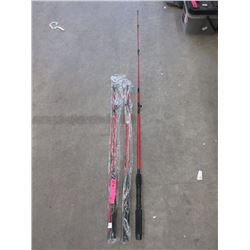 3 New Aqua Strike Graphite Fishing Rods - Red