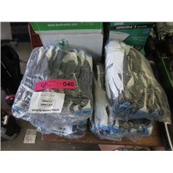 6 Bundles of 12 Large Nitrile Work Gloves
