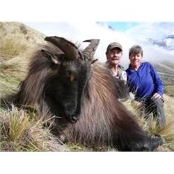 5 Day Tahr hunt for 1 hunter with Southern Mountain Adventures in New Zealand.  Comfortable cabins a