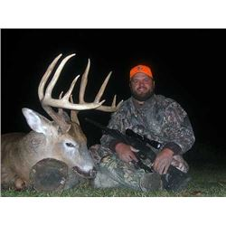 4 Day Whitetail Deer Hunt in ground blinds for 1 hunter in Nebraska. Rifle or handgun. November