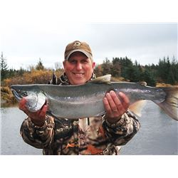 5 Day Silver Salmon Fishing trip for 4 people in Yakutat, Alaska. October 8-12, 2018. Cabin accommod